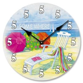5 O'Clock Somewhere Wall Clock