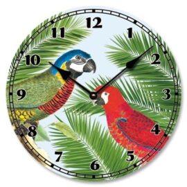 Macaw Parrots Wall Clock