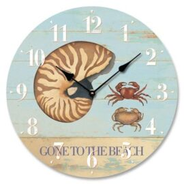 Gone to the Beach Clock