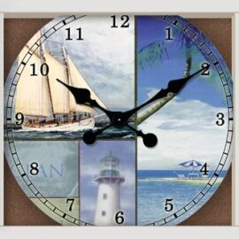 Nautical Scenes Wall Clock