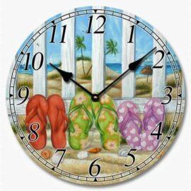 Flip Flops Canvas Clock