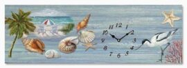 Beach Scene Canvas Clock