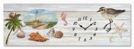 Seaside Canvas Clock Wall Decor