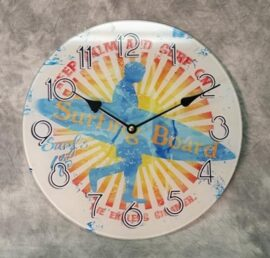 Surf's Up Glass Clock
