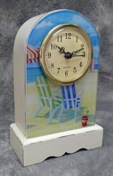 Beach Chairs Mantle Clock