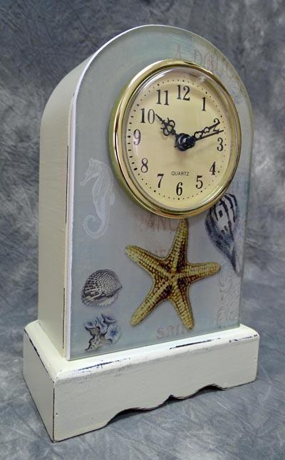 Seashells mantle clock globe imports for Seashell clock