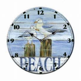 Ceramic Seagull Beach Clock