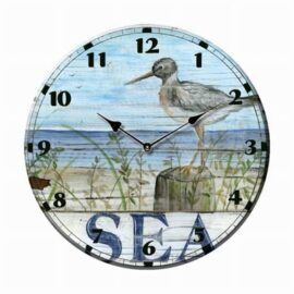 Ceramic Shore Bird Sea Clock