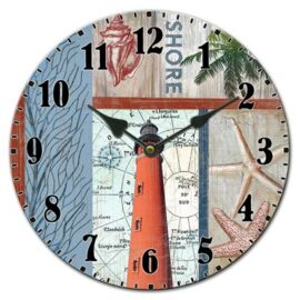 Lighthouse Ceramic Wall Clock