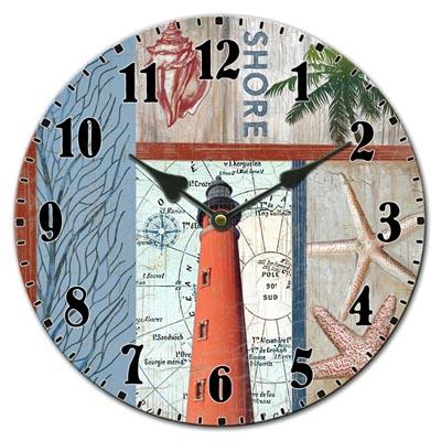 Lighthouse Ceramic Wall Clock