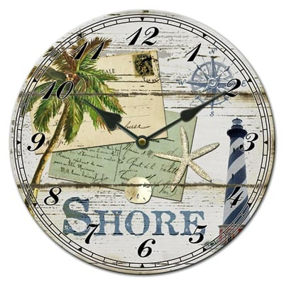 Shore Ceramic Wall Clock