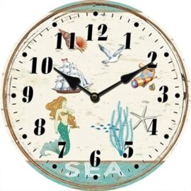 Glass Mermaid Clock