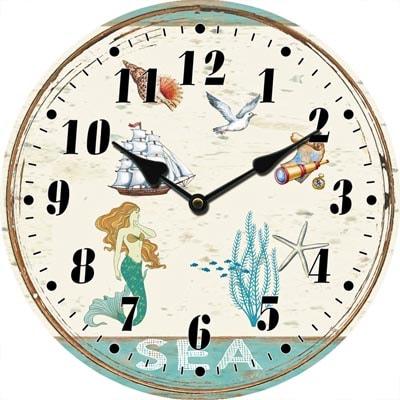 Glass Mermaid Clock