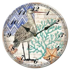 Glass Shore Bird Clock