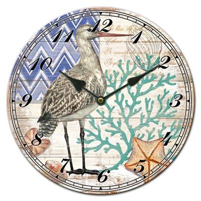 Glass Shore Bird Clock