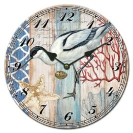 Glass Shorebird Clock