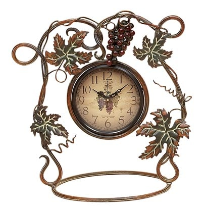 Grape Vine Table Clock