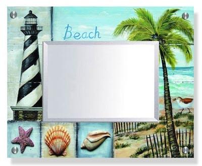 Beach Scene Wall Mirror Globe Imports