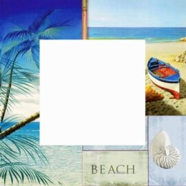 Tropical Beach Wall Mirror