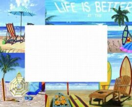 Life is Better Beach Wall Mirror