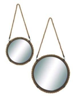 Set of 2 Round Wall Mirrors