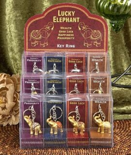 Assorted Good Fortune Elephant Key Chain