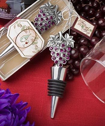 Bejeweled Grape Cluster Bottle Stopper