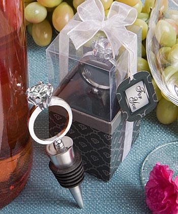 Engagement Ring Bottle Stopper