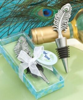 Peacock Feather Wine Bottle Stopper