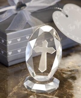 Crystal Cross on Stand