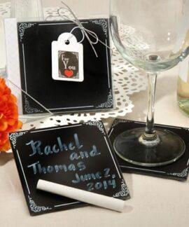 Chalkboard Coaster Gift Set