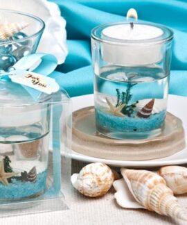 Seascape Tea Light Candle