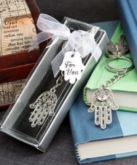 Hand of Fatima or Hamsa Key Ring
