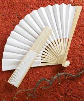 White Paper Folding Fan