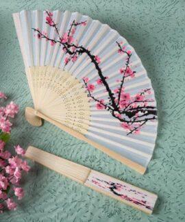 Cherry Blossom Folding Fan