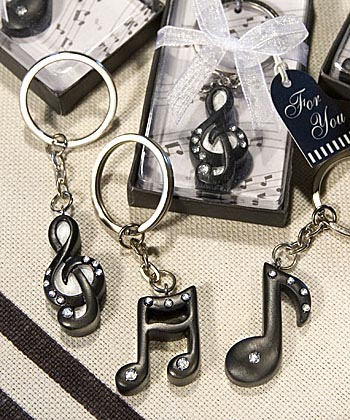 Assorted Musical Notes Key Rings