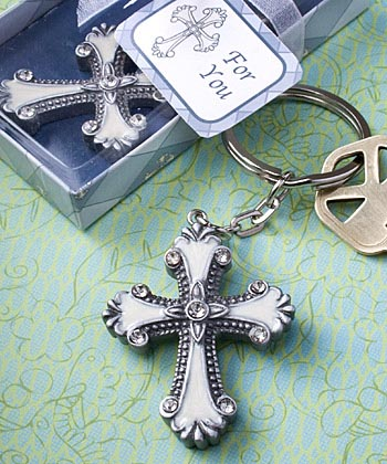 Religious Cross Key Ring