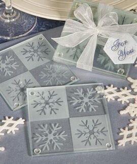 Set of 2 Snowflake Coasters