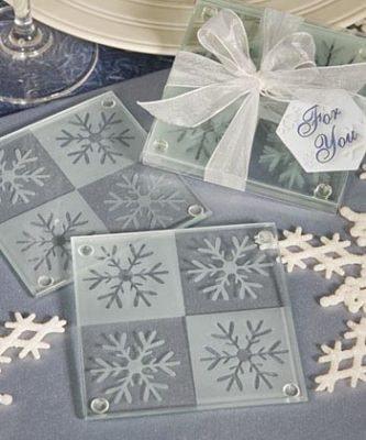 Set of 2 Snowflake Coasters
