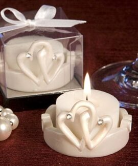 Double Heart Tealight Candle