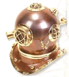 Metal Diver's Helmet