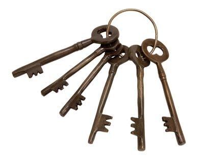 Antique Keys on Ring