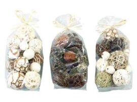 Assorted Bag of Natural Decorative Balls
