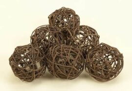 Set of Six Decorative Balls