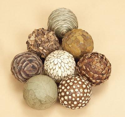 Natural Decorative Balls Beauteous Set Of 8 Decorative Balls  Globe Imports 2018