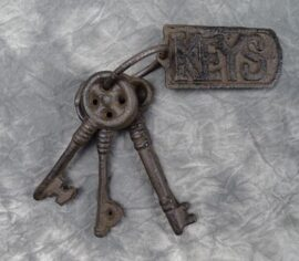 Metal Keys on Ring