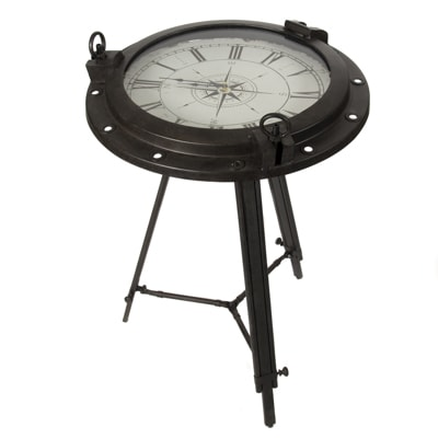 Nautical Porthole Clock Table