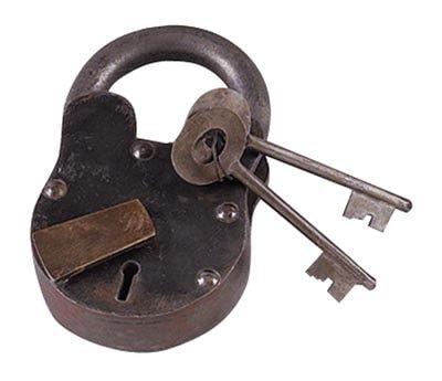 Antique Style Lock & Key