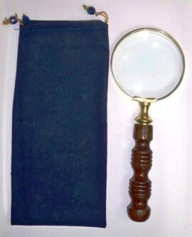 Brass and Wood Magnifyng Glass