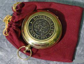 Brass Royal Navy Compass
